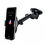 Uchwyt samochodowy z regulowanym ramieniem z  bezprzewodową ładowarką indukcyjną Qi Baseus Wireless Charger Gravity Car Mount (WXYL-A01) Samsung iPhone Xiaomi Huawei Sony LG